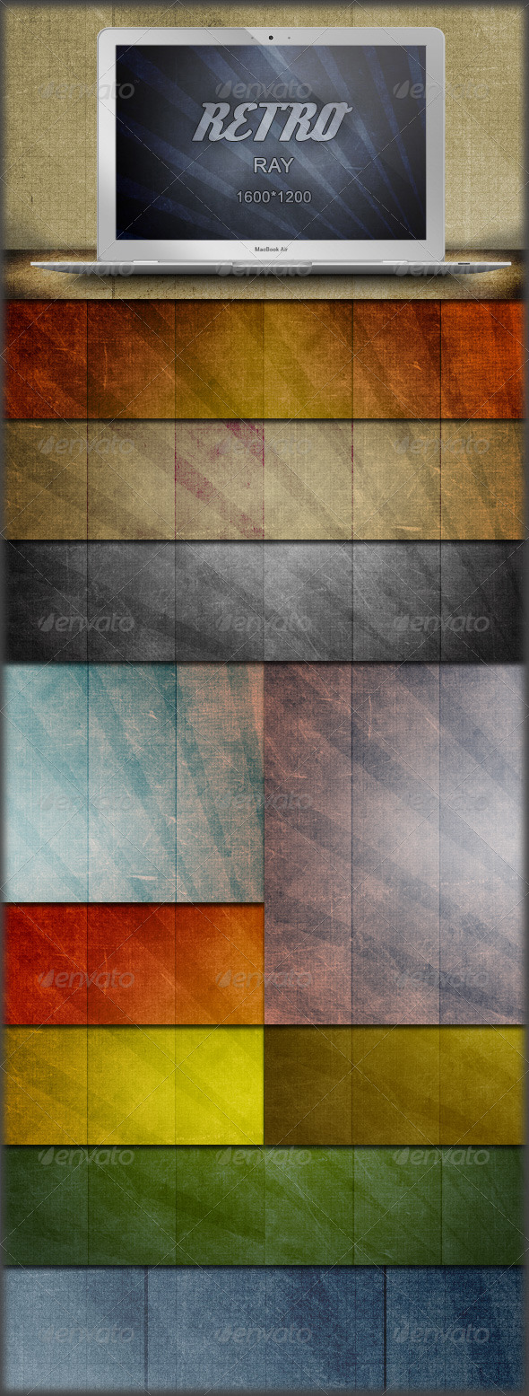 40 Retro Sun Ray Grunge Backgrounds - Backgrounds Graphics
