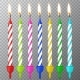 Vector Realistic Different Birthday Party Candles - GraphicRiver Item for Sale