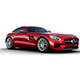 RED 2017 Mercedes Benz AMG GT.
