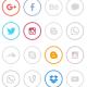 Social Media Pattern Light Background - VideoHive Item for Sale