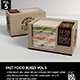 Fast Food Boxes Vol.5:Take Out Packaging Mock Ups - GraphicRiver Item for Sale