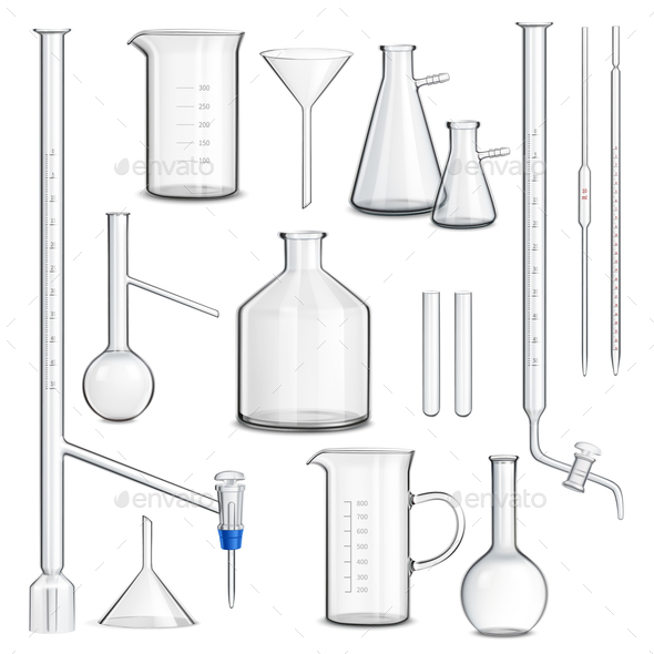 Laboratory Glassware Set - Miscellaneous Vectors