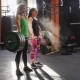 Team of Two Fitness Women Doing Deadlift  - VideoHive Item for Sale