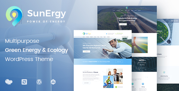 Sunergy - Multipurpose Green Energy and Ecology WordPress Theme