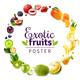 Exotic Fruits Round Rainbow Frame
