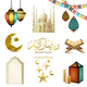 Ramadan Kareem Realistic Set - GraphicRiver Item for Sale