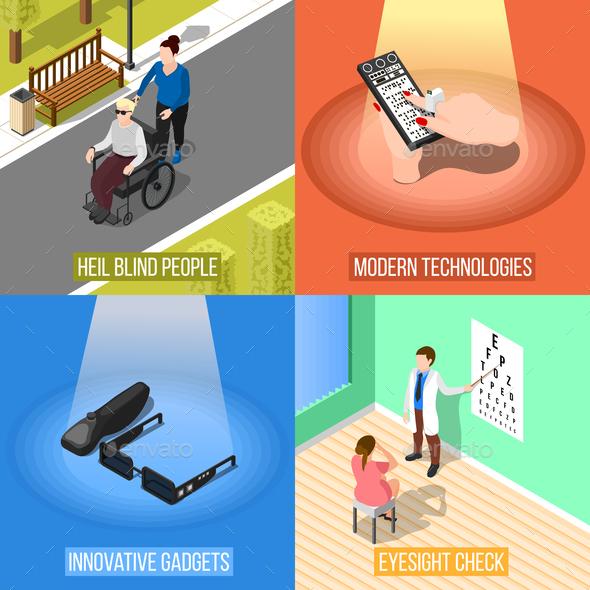 Blind People Design Concept - Health/Medicine Conceptual