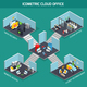 Cloud Office Isometric Composition
