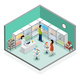 Pharmacy Dispensary Drugstore Isometric Composition