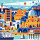 Mediterranean Sea Town Travel Poster - GraphicRiver Item for Sale