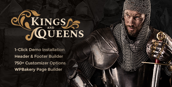 Image of Kings & Queens | Medieval Reenactment WordPress Theme