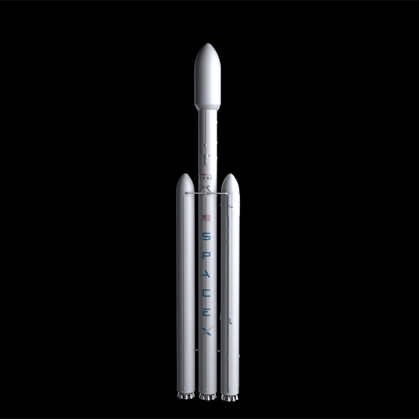 Falcon Heavy V1.2 Non Reusable - 3DOcean Item for Sale