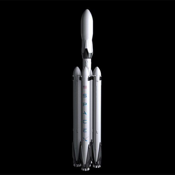 Falcon Super Heavy V1.2 Fully Reusable - 3DOcean Item for Sale