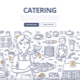 Catering Doodle Concept - GraphicRiver Item for Sale