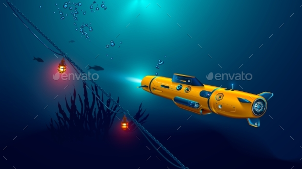 Autonomous Underwater Drone or Robot with Camera
