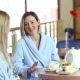 Beautiful Luxury Girls Drink Tea with Cake in the Spa Center - VideoHive Item for Sale