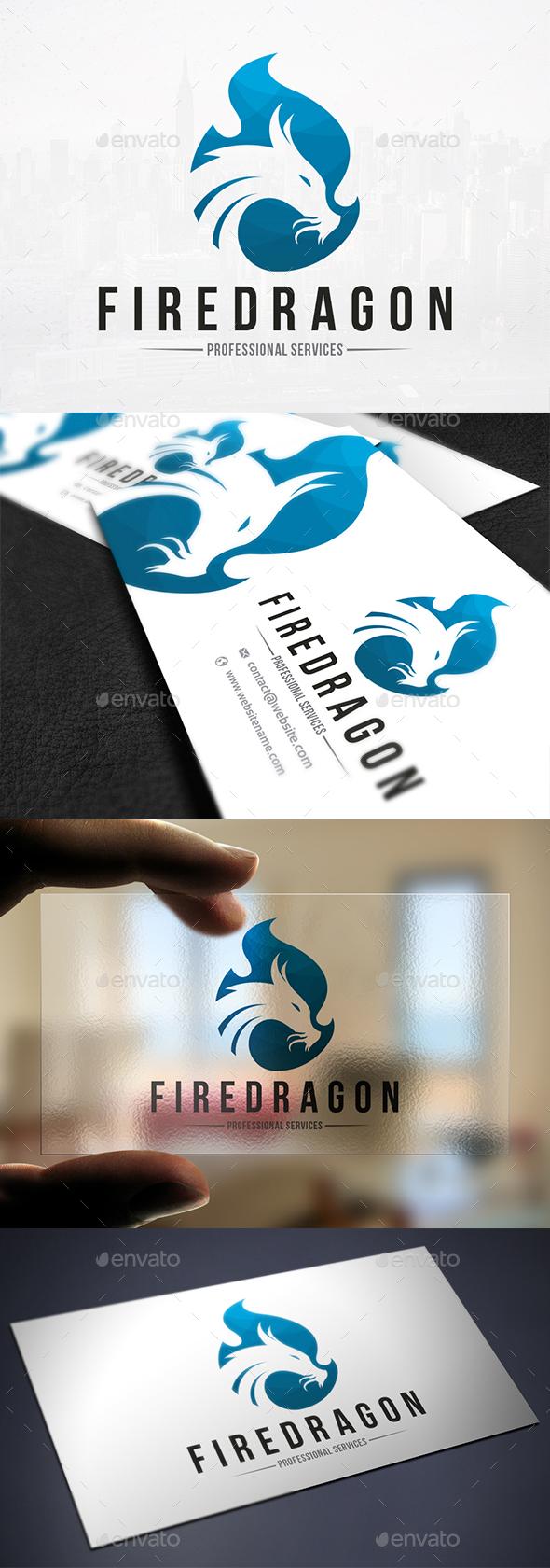 Dragon Flame Logo Template