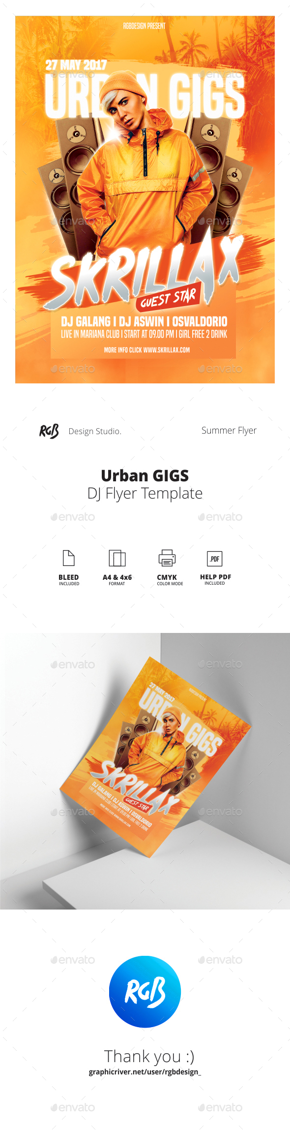 Urban Gigs Flyer - Clubs & Parties Events