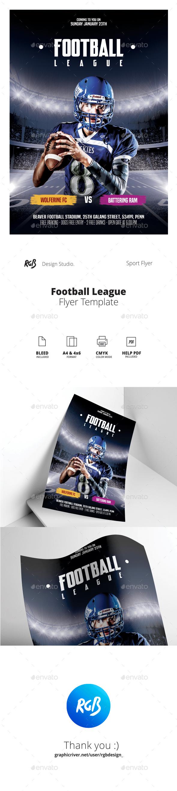 Football League Flyer - Sports Events