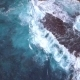 f Big Blue Sea Waves Makes White Foam and Crashing on Rock Seashore Cliff at - VideoHive Item for Sale