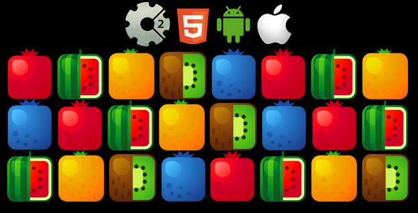 5 Fruit - HTML5 Game + Mobile Version! (Construct-2 CAPX)            Nulled