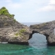Rock Arch Island in the Sea at Atuh Beach in Nusa Penida, Indonesia.  - VideoHive Item for Sale