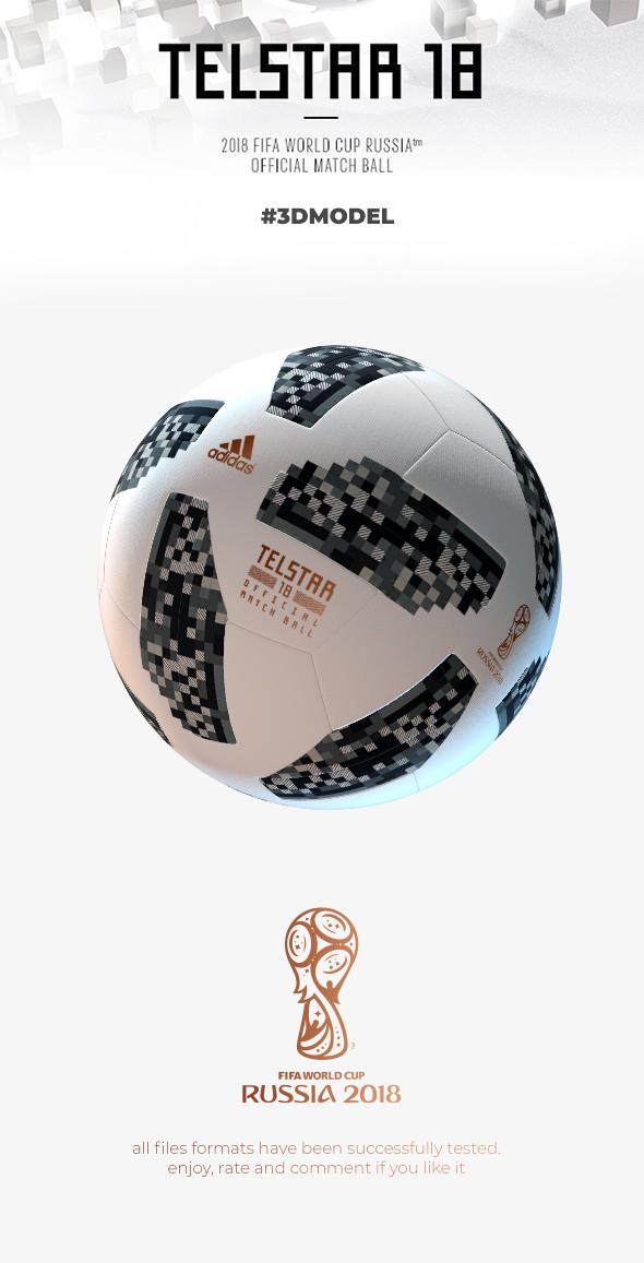 Official Match Ball Russia 2018 Telstar - 3DOcean Item for Sale