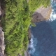 Beautiful Top View From Uluwatu Cliff. Amazing Blue Ocean Waves  - VideoHive Item for Sale