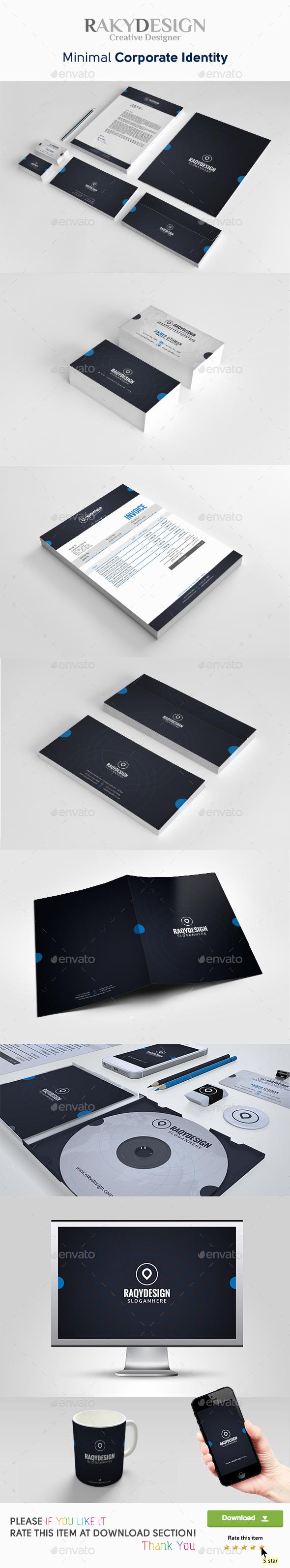 Minimal Corporate Identity - Stationery Print Templates