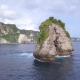 Small Rock Arch Island in the Sea. Nusa Penida, Indonesia.  Fly Around  - VideoHive Item for Sale
