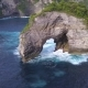 Small Rock Arch Island in the Sea. Nusa Penida, Indonesia - VideoHive Item for Sale