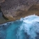 Angels Billabong Natural Pool. Big Blue Sea Waves Crashing on Rock Cliff at Tropical Island - VideoHive Item for Sale