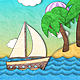 Paper Sea Cartoon Background - VideoHive Item for Sale
