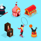 Isometric Circus Elements Collection