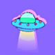 UFO Pixel Art Background - VideoHive Item for Sale