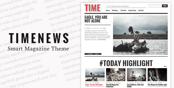 TimeNews - Publisher, Magazine, Newspaper Theme
