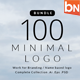 Bundle 100 Minimal logo - GraphicRiver Item for Sale