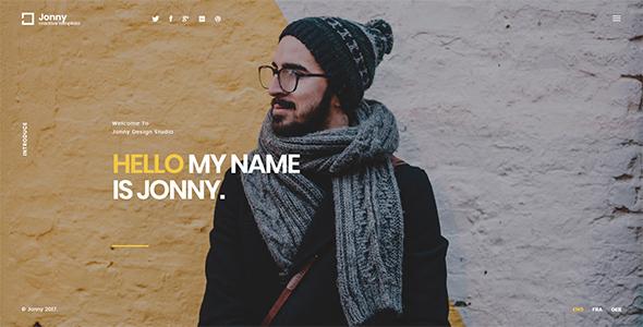 Jonny - One Page Joomla! Theme