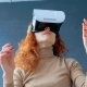 Redhead Woman with Virtual Reality Glasses - VideoHive Item for Sale