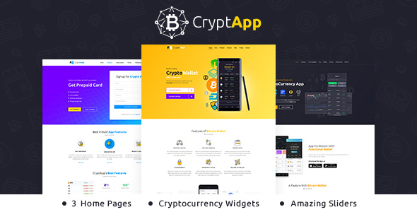 CryptApp Landing Page – Cryptocurrency Landing Page Theme