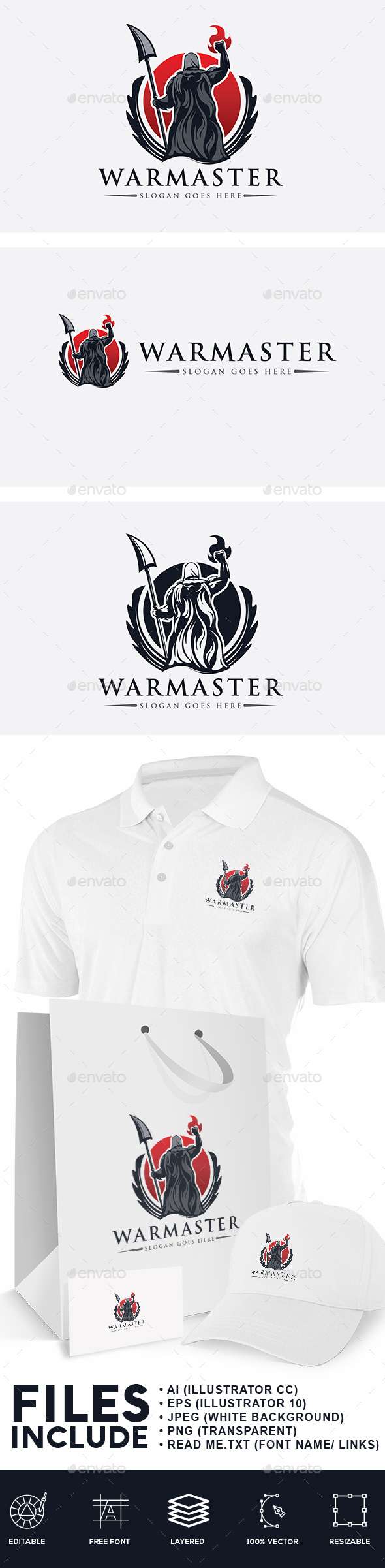 War Master Logo - Humans Logo Templates