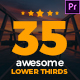 Awesome Lower Thirds for Premiere - VideoHive Item for Sale