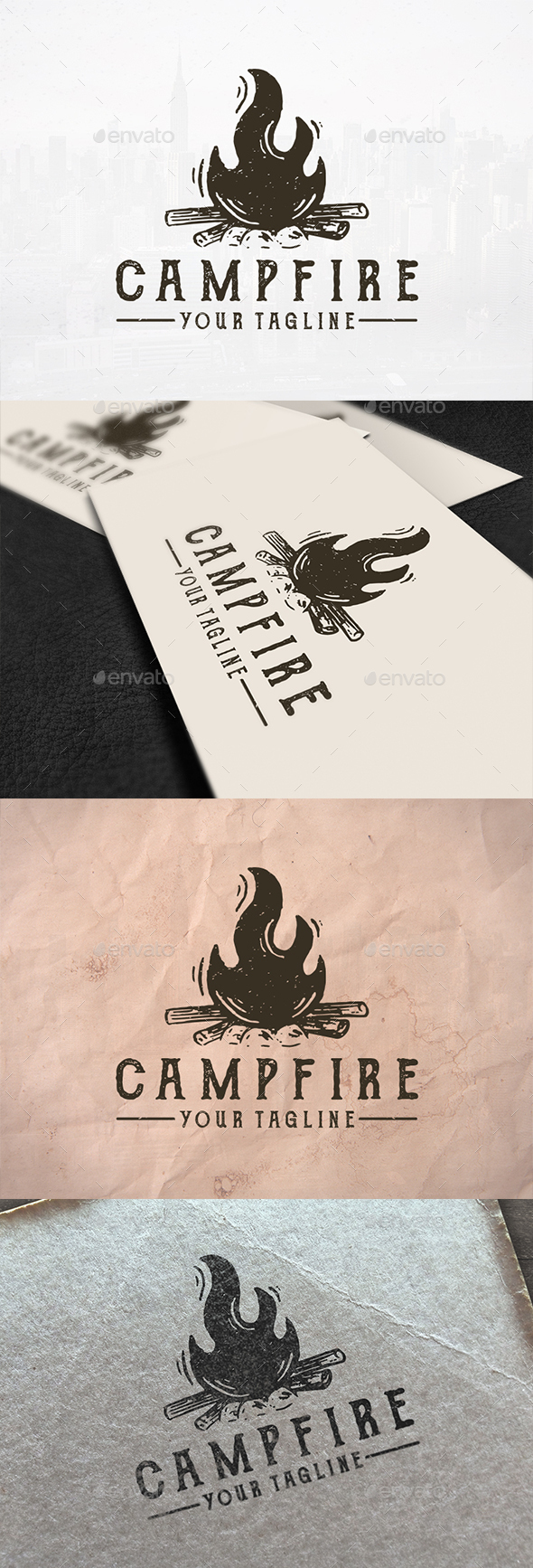 Bonfire Logo Template - Nature Logo Templates