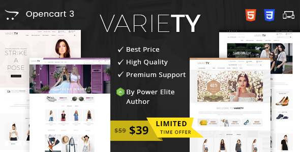 Variety – Multipurpose OpenCart 3 Theme