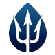Trident Water Drop Logo
