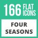 166 Four Seasons Flat Icons