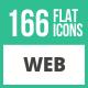 166 Web Flat Icons