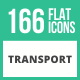 166 Transport Flat Icons