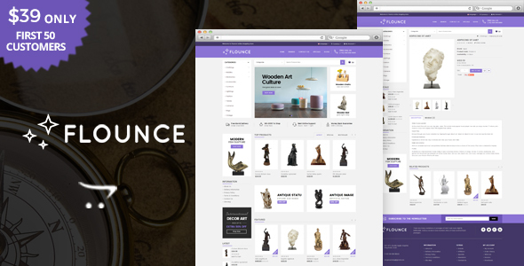 Image of Flounce - Multipurpose OpenCart Theme