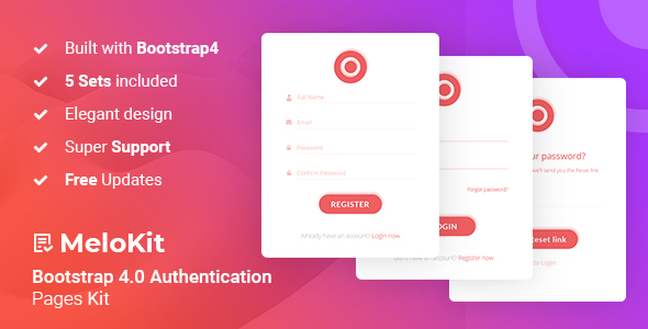 MeloKit - Bootstrap4 Authentication Pages Kit            Nulled